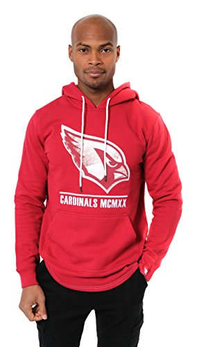 Ultra Game Men's NFL Fleece Hoodie Pullover Sweatshirt Embroidered JTM1731A, Arizona Cardinals, Red, Small Arizona Cardinals Fleece Fabric