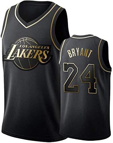 Shelfin - Camiseta de baloncesto para hombre, diseño con el número 24 de Kobe Bryant de Los Angeles Lakers, ideal para verano