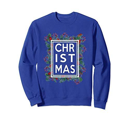 Christmas Pine Wreath Gar.Land Red Berry Xmas Funny Gift Sweatshirt - Front Print Sweatshirt for Men And Woman.