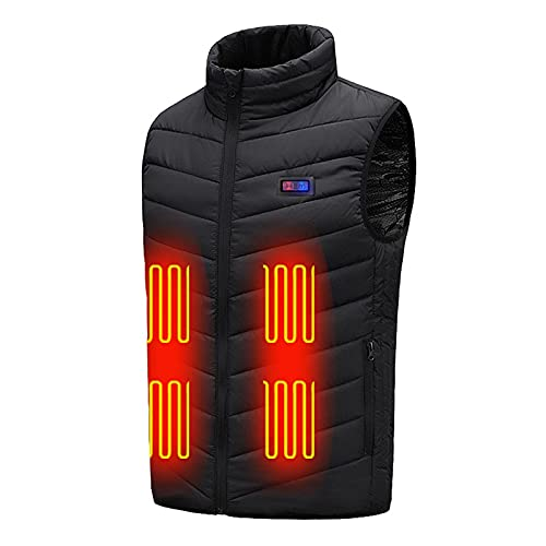 Upgraded Heated Vest for Women Men, Battery Not Included Smart Electric Heating Vest Warming Heated Jacket Black