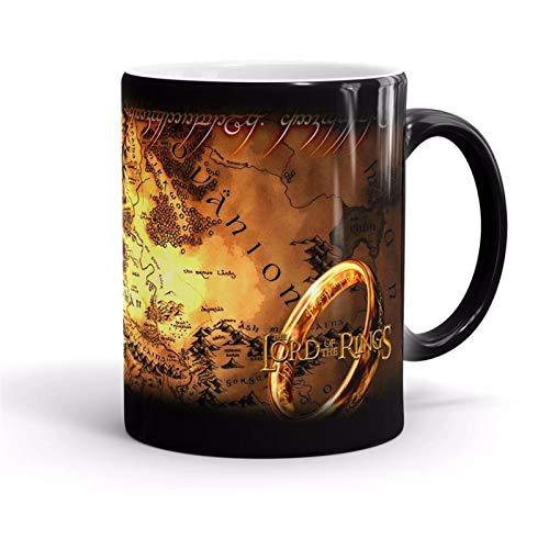 TYYW Tassen, der Herr des Ring wärme induktion Farbe wechseln Becher leichte magische Ringe Becher Farbe wechselnde tassen Sensible Keramik Tee Kaffee tassen Cup Freunde Freunde Geschenk