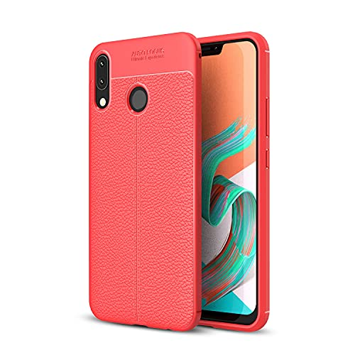 ZHIWEI Bolso de un teléfono portátil para ASUS ZENFONE 5Z ZS620KL Case, para ASUS ZENFONE 5 ZE620KL Case, TELÉFONO DE TELÉFONO MÓVIL MÓVILES ANTIGUSTIENTE DE RESPUESTO DE ARCHACH (Color : Red)