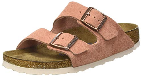 BIRKENSTOCK Damen Arizona SFB Cuir Suede Earth Red Sandale, 37 EU