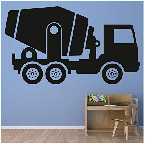Xxscz Mixer Vrachtwagen Bouw Vrachtwagen Muursticker Jongens Kinderkamer Vinyl Muursticker voor Slaapkamer Modern Home Decor Art Patroon W112