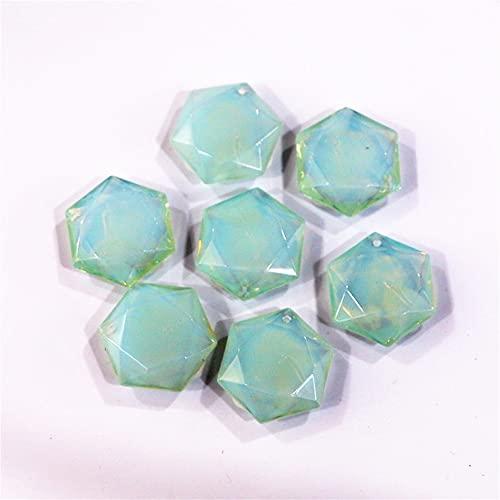 Muebles para el hogar Piedra Natural Lapis Lazuli Collar Colgante Estrella de David Pattern Colgante Piedra Natural Sección Cruz Hexagonal Bricolaje Producción