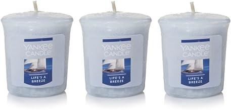 شمعة من 3 شموع من Yankee Candle Lot of 3 Life's A Breeze Sampler Votive سعة 50 مل لكل عبوة