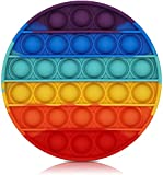 Bdwing Silicona Sensorial Fidget Juguete, Push and Pop Bubble Sensory Toy, Autismo Necesidades Especiales Aliviador del Antiestrés del Juguetes para Niños Adultos Relajarse (Rainbow-R)