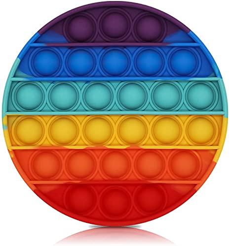 NUEVAS IDEAS Juguete sensorial Pop Burbujas   Antiestrés   Motricidad Fina   Lavable  Juego Entretenimiento  Circulo Arcoiris Relajante (CIRCULO Arcoiris)