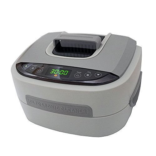 iSonic P4821 Commercial Ultrasonic Cleaner, Plastic Basket, 110V, 2.6 Quart/2.5 L, Beige