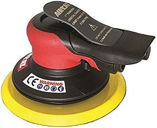 "AirCat 6700-6-336 Lube Free Palm Sander, 6"", Red/Black"