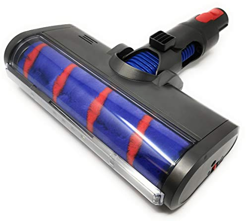 Kniwelshop Elektrische Turbo Bürste, Parkettbürste, Düse mit Softrolle, LED Version, kompatibel mit Dyson Staubsauger V7,V8, V10, V11