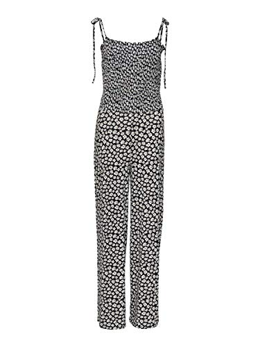 ONLY Damen ONLDORO Strap JRS Jumpsuit, Mehrfarbig (Black AOP: Flower), 38 (Herstellergröße: M)