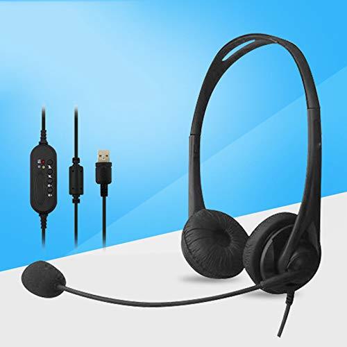 Headset Binaural Bedrade Verkeer Headset Online Onderwijs Computer USB-Headset-Wire Besturing Headset HD Call Headset