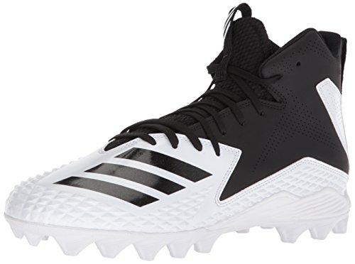 adidas Men's Freak Mid MD Football Shoe, White/Black/Black, 12 M US