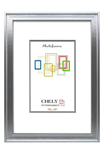 Chely Intermarket, Marco Madera 50x70cm Pared Plateado