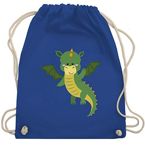 Tiermotive Kind - Drache - Unisize - Royalblau - sporttasche drache - WM110 - Turnbeutel und Stoffbeutel aus Baumwolle