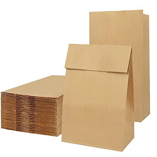 50 Stück Papiertüten Braun, Papiertüten Große,Geschenktüten Papier, Papiertüten für Lebensmittel, kraftpapier Tüten, Geschenktüten, recycelte Kraftpapiertüte für Lebensmittel Party Lieferant