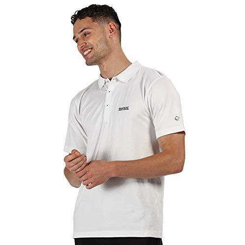 Regatta Polo Technique Sinton léger et Respirant avec col côtelé T-Shirts Vests Homme, White, FR (Taille Fabricant : 4XL)