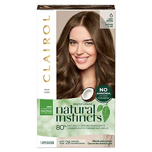 Clairol Natural Instincts Semi-Permanent, 6 Light Brown, 1 Count Clairol