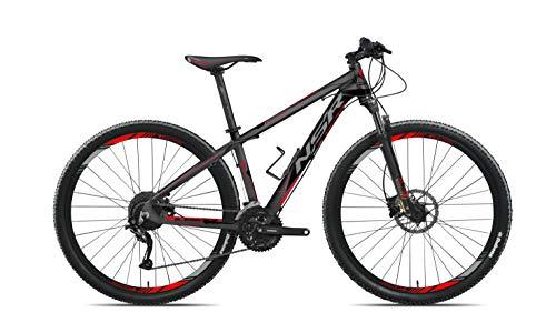 Tecnobike NSR X.PRO Hardtail 29' Aluminio High Performance - All Around MTB - Shimano 27 Speed - Antracita/Rojo - Large