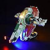 PROTOY Juego de iluminación LED para Lego 75312 Star Wars Boba Fett Starship, juego de luces compatible con Lego 75312 (sin juego Lego) – Versión clásica