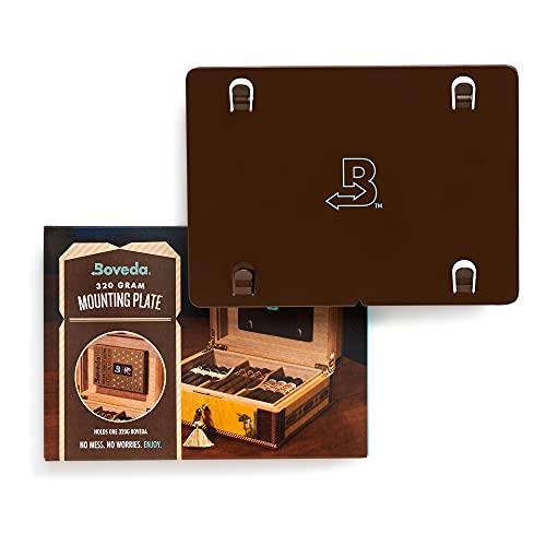 Boveda für Zigarren | Boveda-Befestigungsplatte aus Metall für Humidore | Zur Verwendung bei einem (1) Boveda der Größe 320 (separat erhältlich) | Enthält einen (1) Befestigungsmagneten | 1 Stück