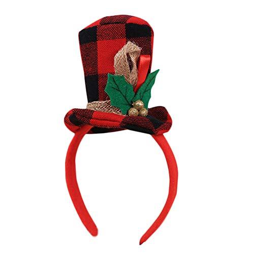 Cosanter Kinder Haarbänder Weihnachten Party Niedlich Hutform Kopfschmuck Geeignet für Mädchen und Junge, 23x12 cm