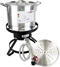 GasOne B-5155 Propane Burner with Steamer Pot-Turkey Fry & Tamale