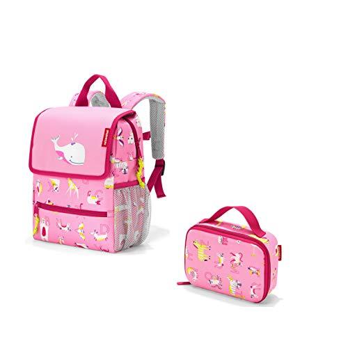 reisenthel Kids Outdoorset für Kinder 2tlg Rucksack/Backpack und Isotasche/thermocase Cat´s & Dog´s min (ABC Friends pink)