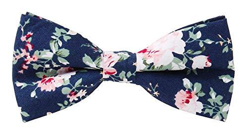 Levao Men's Cotton Floral Printing Bow Tie