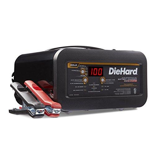 DieHard 71326 6 12V Gold Shelf Smart Battery Charger and 12 80A Engine Starter , Black