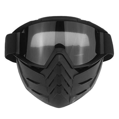 Yiph-Sunglass Gafas de Sol Montar al Aire Libre Casco de Moto Máscara Desmontable Vintage Gafas de esquí Ciclismo Motocross MTB