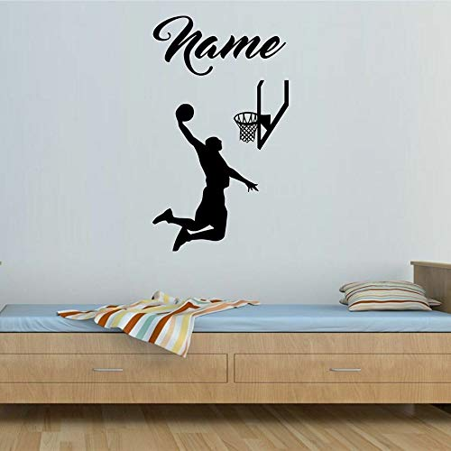 Tianpengyuanshuai spelletjes basketbal muursticker aangepaste namen sport jeugdig kinderen slaapkamer hoofddecoratie vinyl muurtattoos persoonlijkheid