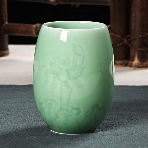 SDFJKO Tasse à café Tasse à thé en Porcelaine Tasse à thé en céramique 200 ML céladon Tasse à Eau café Lait Tasse théière Maison Boisson récipient, Un Style