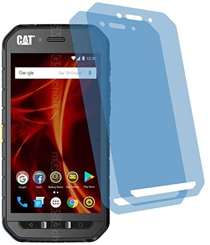 4ProTec I 2X Crystal Clear klar Schutzfolie für Caterpillar CAT S41 Bildschirmschutzfolie Displayschutzfolie Schutzhülle Bildschirmschutz Bildschirmfolie Folie