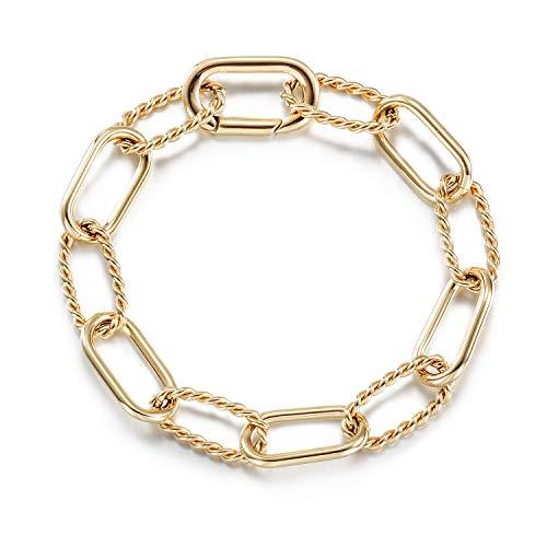 CIUNOFOR Designer Brand Classic Twist Rope Chain Link Bracelet Threader Interlocking...