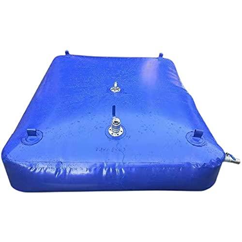 SHIJINHAO Tanque De Agua Duradero De Almacenamiento De Agua De Gran Capacidad, Tanque De Almacenamiento De Agua Flexible con Válvula On-Off, Plegable (Color : Blue, Size : 500L/1x1x0.5M)