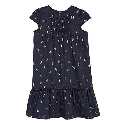 Lili Gaufrette Gn30052 Dress Vestido, Azul (Deep Indigo 491), 12 años (Talla del Fabricante: 12A) para Niñas
