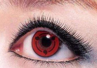 farbige Kontaktlinsen, crazy red funlinsen, crazy contact lenses, 1 Paar + gratis Kontaktlinsenbehälter