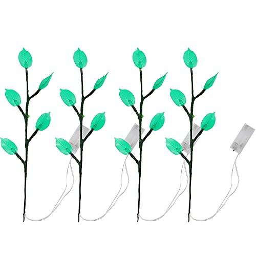 4 luces de decoración de interior de plantas LED, habitación de los niños, salón, jardín, patio, césped, boda, decoración de árbol romántico de fiesta.