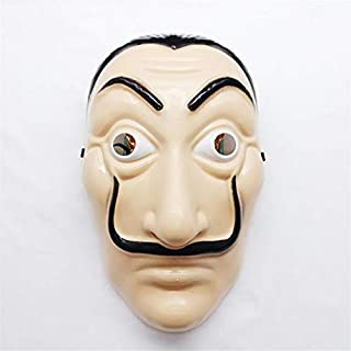 TANGGOOO La Casa De Papel Mask Halloween Horror Masks Party Maske Masquerade Cosplay Salvador Dali Paper House Funny Masque Clothing Prop Must Have Kids Items 1 Year Old Boy Gifts The Favourite Toys