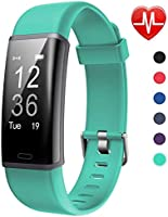 Lintelek Montre Connectée Intelligente, Pression Artérielle Cardio Fréquence Smartwatch Bracelet Connecté Ecran Couleur...