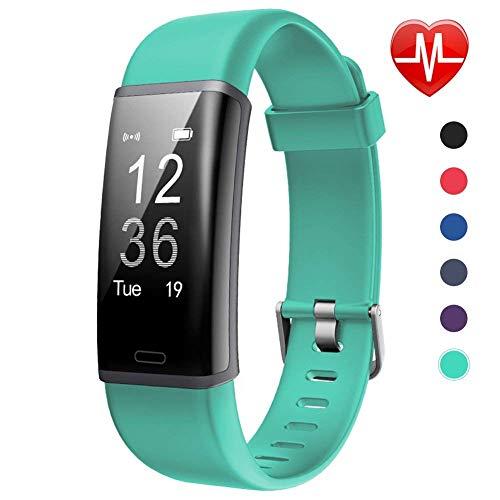 Lintelek Fitness Tracker, Pulsera de Actividad Personalizada Color con Monitor de Ritmo Cardíaco, 14 Modos de Deporte Smart Relojes Bluetooth Podómetro para Hombre, Mujer y Niños