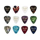Fender© '351 Medley' Plettri in celluloide per Chitarra e Basso - Colori vari - Extra Heavy - Set di 12