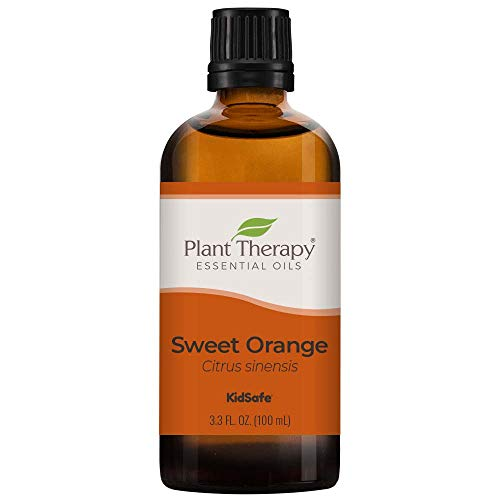 Plant Therapy Sweet Orange Organic Essential Oil 100% Pure, USDA Certified Organic, Undiluted, Natural Aromatherapy, Therapeutic Grade 100 mL (3.3 oz)