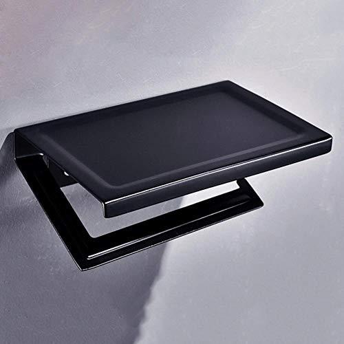 KKA Multifunktions-Aluminium-Toilettenpapierhalter für Badezimmer Badezimmer-Taschentuch-Aufbewahrungshaken Badezimmerregale mit Aschenbecher-Telefonhalter, Multi