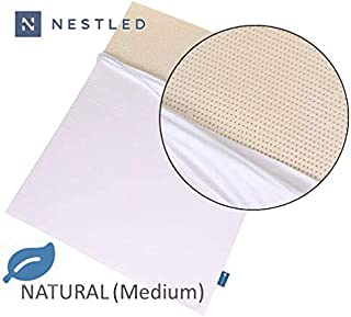 100% Natural Latex Mattress Topper - Medium Firmness - 2 Inch - Queen Size - Cotton Cover Included.