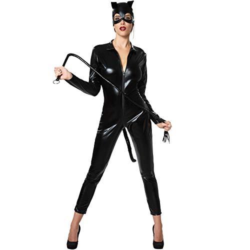 dressforfun 900474- Disfraz de Mujer Gato Caliente, Disfraz de Gato Muy Elegante en Piel sintética (XL | No. 302113)
