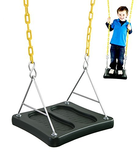 Squirrel Products Stand & Swing- Swing Set Accessories Swing Seat Replacements- Outdoor Activities for Kids Ages 3 Years and Older