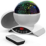 Homcasito Night Light Baby Star Projector, 8 Color Rotation Lamp with Timer Remote